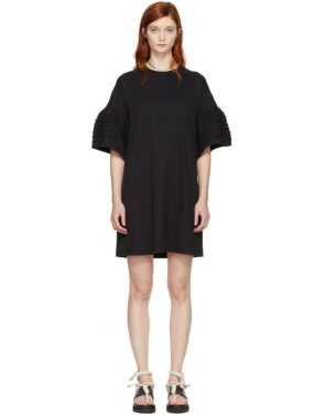 photo Black Ruffle Sleeves T-Shirt Dress by See by Chloe - Image 1