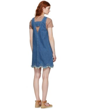 photo Blue A-Line Denim Dress by See by Chloe - Image 3