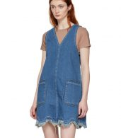photo Blue A-Line Denim Dress by See by Chloe - Image 4