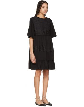 photo Black Lace Overlay Flowy Dress by See by Chloe - Image 2
