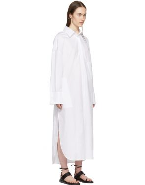photo White Byron Shirt Dress by Ann Demeulemeester - Image 2