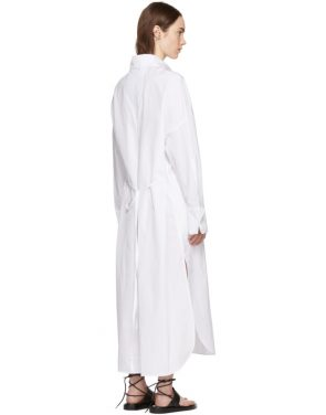 photo White Byron Shirt Dress by Ann Demeulemeester - Image 3