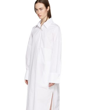 photo White Byron Shirt Dress by Ann Demeulemeester - Image 4