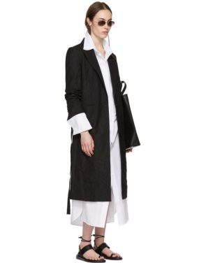 photo White Byron Shirt Dress by Ann Demeulemeester - Image 5
