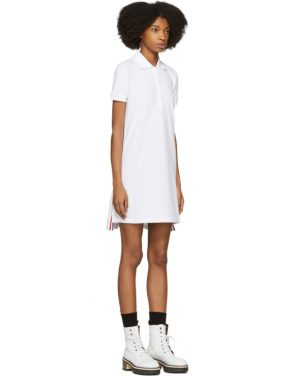 photo White Short Sleeve A-Line Polo Dress by Thom Browne - Image 2