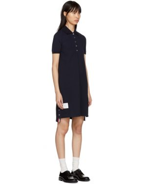 photo Navy A-Line Polo Dress by Thom Browne - Image 2
