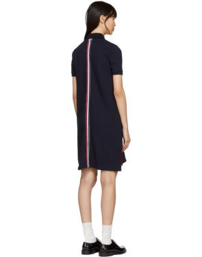 photo Navy A-Line Polo Dress by Thom Browne - Image 3