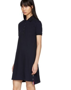 photo Navy A-Line Polo Dress by Thom Browne - Image 4