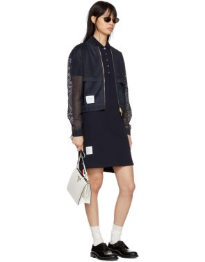 photo Navy A-Line Polo Dress by Thom Browne - Image 5