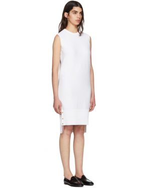 photo White Links Links Shift Dress by Thom Browne - Image 2