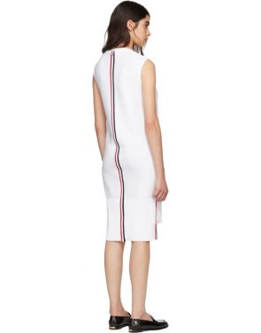 photo White Links Links Shift Dress by Thom Browne - Image 3