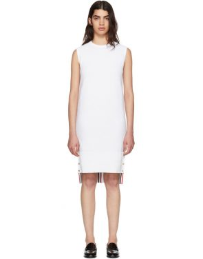 photo White Links Links Shift Dress by Thom Browne - Image 1