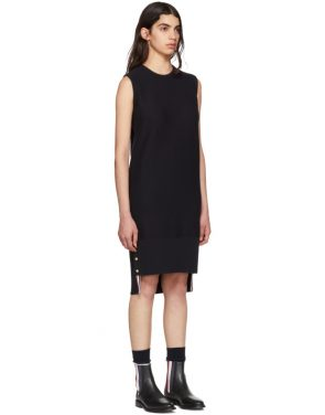 photo Navy Links Links Shift Dress by Thom Browne - Image 2