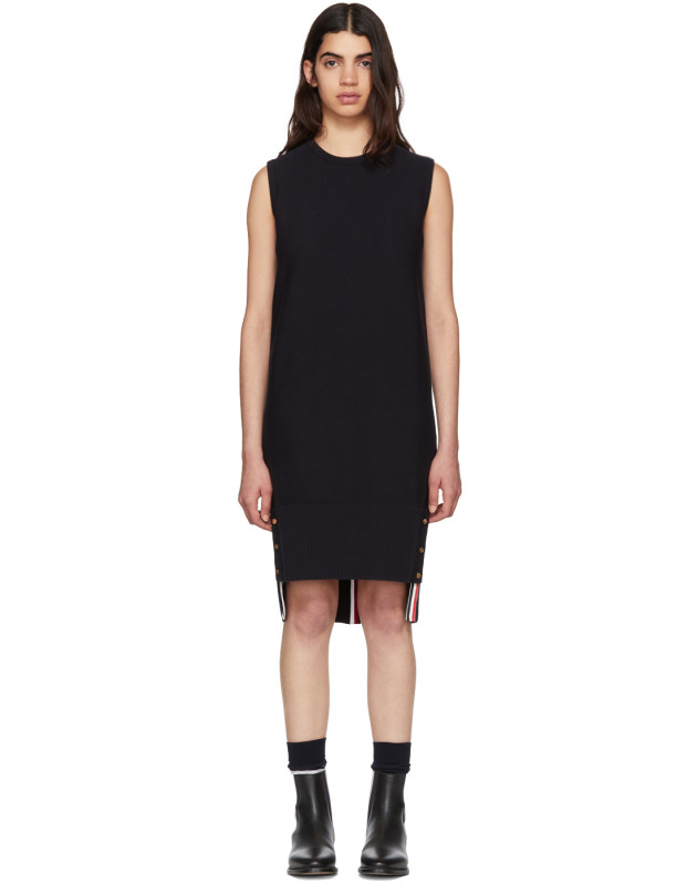 photo Navy Links Links Shift Dress by Thom Browne - Image 1