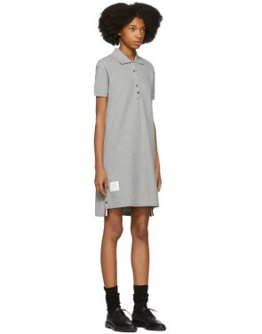 photo Grey A-Line Polo Dress by Thom Browne - Image 2