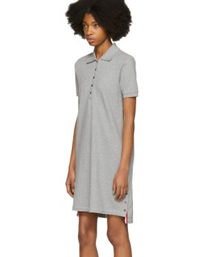 photo Grey A-Line Polo Dress by Thom Browne - Image 4
