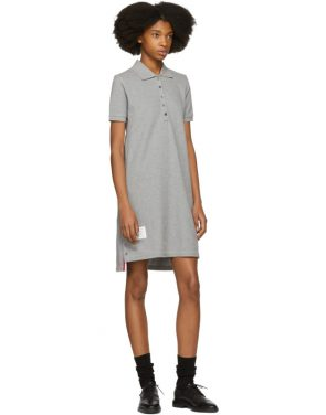 photo Grey A-Line Polo Dress by Thom Browne - Image 5