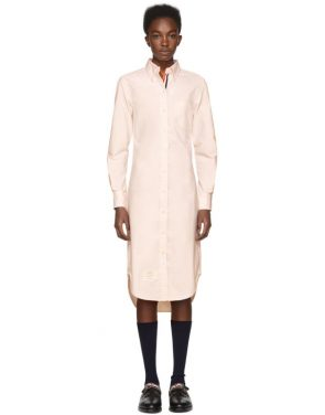 photo Pink Classic Button-Down Point Collar Shirt Dress by Thom Browne - Image 1