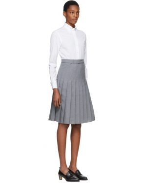 photo White and Grey Shirt Dress by Thom Browne - Image 2