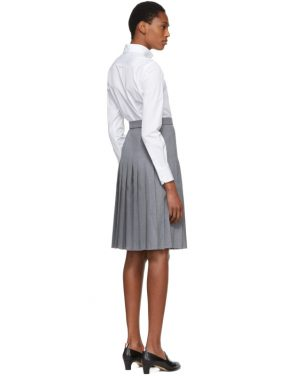 photo White and Grey Shirt Dress by Thom Browne - Image 3