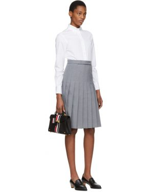 photo White and Grey Shirt Dress by Thom Browne - Image 4
