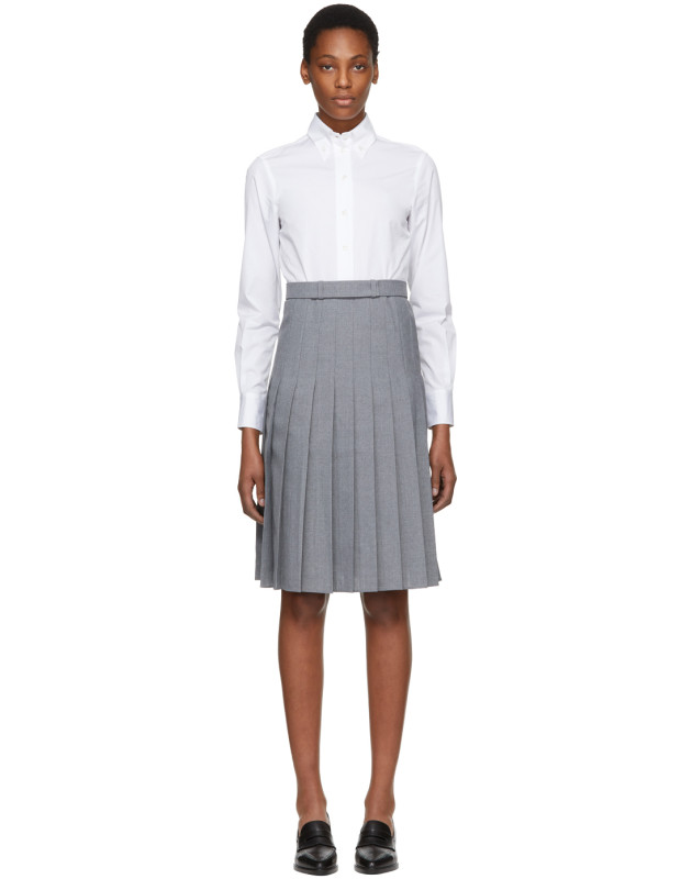 photo White and Grey Shirt Dress by Thom Browne - Image 1