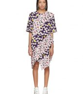 photo Multicolor Ruffled Tee Dress by Kenzo - Image 1