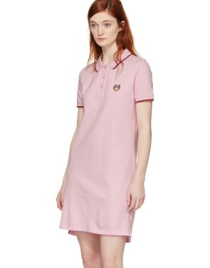 photo Pink Tiger Crest Polo Dress by Kenzo - Image 4