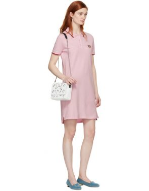 photo Pink Tiger Crest Polo Dress by Kenzo - Image 5