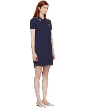photo Navy Tiger Crest Polo Dress by Kenzo - Image 2