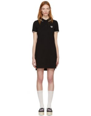 photo Black Tiger Crest Polo Dress by Kenzo - Image 1