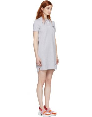 photo Grey Tiger Crest Polo Dress by Kenzo - Image 2