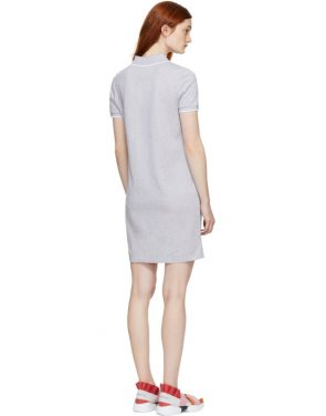 photo Grey Tiger Crest Polo Dress by Kenzo - Image 3