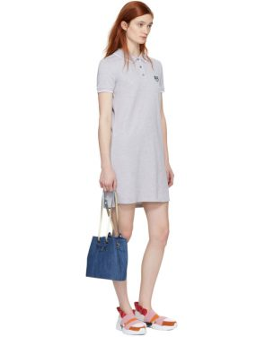 photo Grey Tiger Crest Polo Dress by Kenzo - Image 5