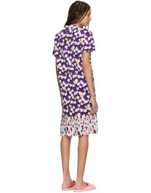 photo Multicolor Mix Floral Pleat T-Shirt Dress by Kenzo - Image 3