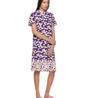 photo Multicolor Mix Floral Pleat T-Shirt Dress by Kenzo - Image 5