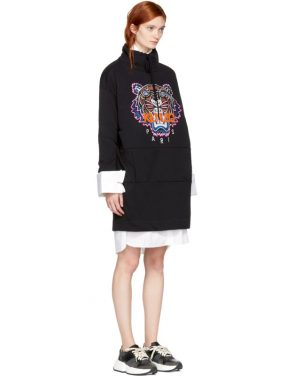 photo Black Limited Editon Tiger Sweatshirt Dress by Kenzo - Image 2