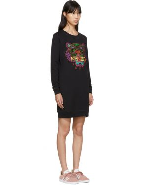 photo Black Limited Edition Holiday Tiger Sweatshirt Dress by Kenzo - Image 2