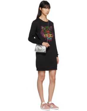 photo Black Limited Edition Holiday Tiger Sweatshirt Dress by Kenzo - Image 4