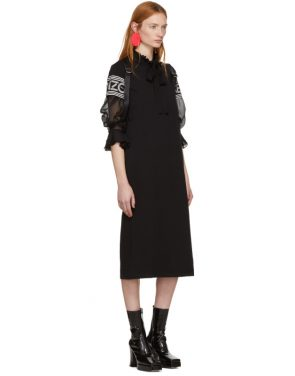 photo Black Midi Sport T-Shirt Dress by Kenzo - Image 4