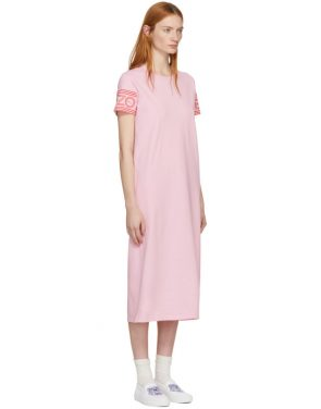 photo Pink Sport Midi T-Shirt Dress by Kenzo - Image 2