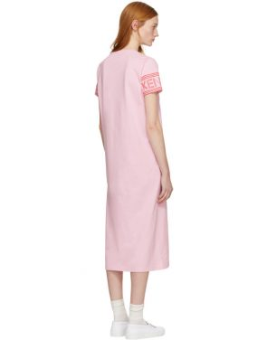 photo Pink Sport Midi T-Shirt Dress by Kenzo - Image 3