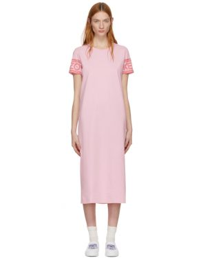 photo Pink Sport Midi T-Shirt Dress by Kenzo - Image 1
