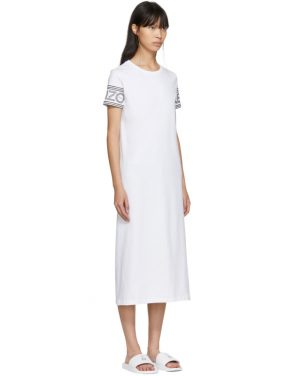 photo White Logo T-Shirt Dress by Kenzo - Image 2