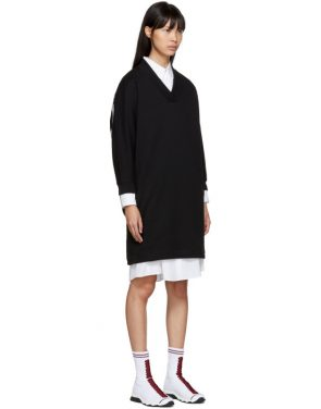 photo Black Logo Sport Sweatshirt Dress by Kenzo - Image 2