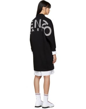 photo Black Logo Sport Sweatshirt Dress by Kenzo - Image 3