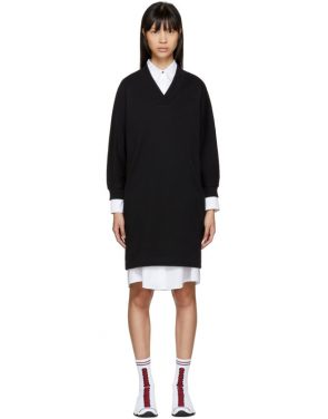 photo Black Logo Sport Sweatshirt Dress by Kenzo - Image 1