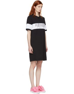 photo Black  Sport Zipped Dress by Kenzo - Image 2
