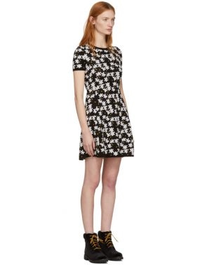 photo Black Fit and Flare Flower Dress by Kenzo - Image 2