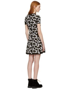 photo Black Fit and Flare Flower Dress by Kenzo - Image 3